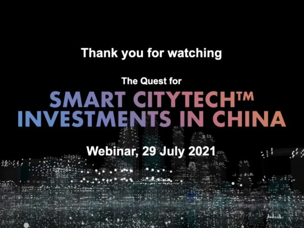 """Moderated by Richard Quest: """"Smart Citytech™ Investments in China"""""""